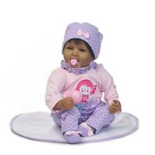 "22"" Reborn Baby Doll Lifelike Black African American Silicone Vinyl Smile Girl"