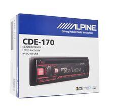 Alpine CDE-170, Single-DIN CD Car Stereo w/ USB & Auxiliary Input
