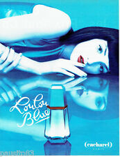 PUBLICITE ADVERTISING 016  1996  CACHAREL  eau de toilette  LOULOU BLUE
