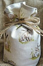 Countryside Hare New Animal Print Fabric Doorstop - Unfilled