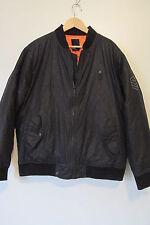 DC Men's Black Logo Print Orange Lined Quilted Zip Up Bomber Jacket SIZE:XL NWOT