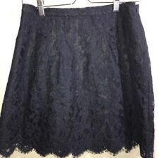 J.crew lace skirt size 2 navy blue