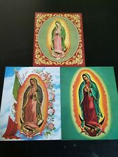 "3- 8"" X 10"" Lady of Guadalupe Picture Prints in Lithograph by Dealer"