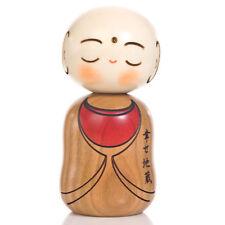 Felice Buddha Kokeshi Bambola giapponese in legno
