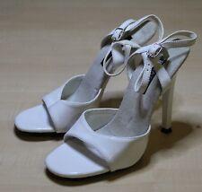 PLEASER Gala-09, weiße Lack Sandalette, Pumps, High Heels, Gr. 36 / US 6, NEU