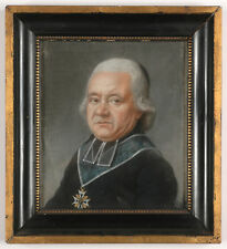 "Louis Leopold Boilly-School ""Canon-Bishop of Chapter of St Denis"", Pastel"