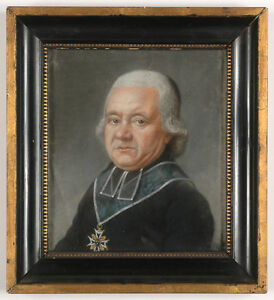 """Louis Leopold Boilly-School """"Canon-Bishop of Chapter of St Denis"""", Pastel"""