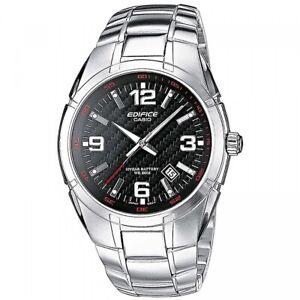 Casio Edifice EF-125D-1A Herren Armbanduhr Edelstahl Schwarz Silber NEU & OVP