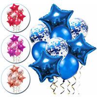 9Pcs Helium Ball Latex Balloons with Confetti Birthday Wedding Decoration