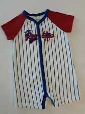 Child Of Mine By Carter Boy's S/S One-Piece W/Mommy's Rookie M.V.P. Size 18 Mos.