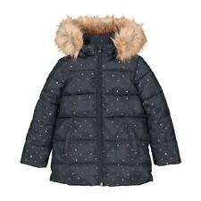 La Redoute Girls Hooded Padded Jacket Navy Age 7-8 Gold Star Print RRP £56