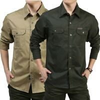 Vogue Men Military Army Security Outdoor Tactical Work Shirt Long Sleeve Shirt