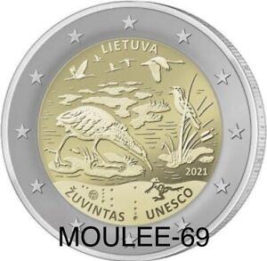 Lituania 2 Euros 2021-PREVENTA- Reserva Biosfera de Žuvintas (leer descripción)