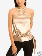 NWT MARCIANO GUESS LETICIA HALTER TOP SAND XS HOT!!!