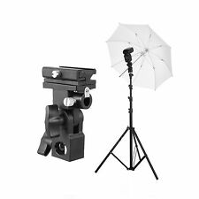 Flash Speedlite Accessory outdoor Kit 1 (Light Stand+Flash Bracket+Umbrella)