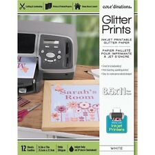 Core'dinations® Glitter Prints Paper - Champagne - 8.5 x 11 inches - 12 shts