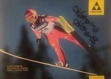 Autogramm Katharina Althaus Silber Olympia 2018 PyeongChang Skispringen fliegt #