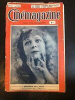 1920s French Cinema Magazine Cinemagazine April 1922 Henry Krauss Andree Pascal