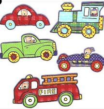 Toddler Toys - Iron On Fabric Appliques with Fire trucks