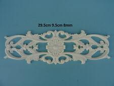 Decorative large ornate flower scroll resin furniture moulding applique Z18