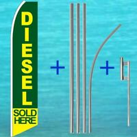 Windless Diesel Sold Here Swooper Flag Advertising Sign 2.5' Wide Banner Only