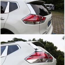 2pcs Stainless Steel Rear Window Edge Cover Trin Per Nissan X-Trail T32 2014-17