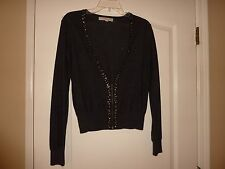 Loft partial zippered cardigan size M