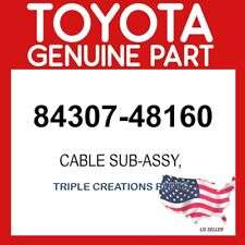 TOYOTA GENUINE 8430748160 CABLE SUB-ASSY 84307-48160