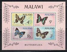 Malawi SC40a Souv.Sht. Various Butterflies MNH 1966