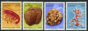 Algérie 435-438, MNH Homard,Mollusques,Coraux,1970