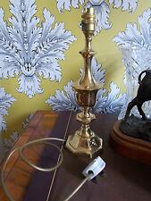 """VINTAGE in ottone Lampada da tavolo 12"""" Lampada aprox Illuminazione Soggiorno"""