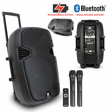 Portable PA System Active Bluetooth Speaker with Microphones Battery Powered
