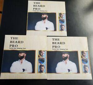3-- THE BEARD PRO Beard Shaving Comb Lines Trimming Facial Hair Shaping Tool