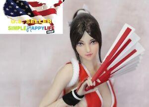 """1/6 Mai Shiranui female Head PALE for PHICEN 12 """" Figure OB hot toys ❶USA❶"""