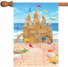 NEW Toland - Sandy Castle - Cute Beach Sand Shell Waves House Flag