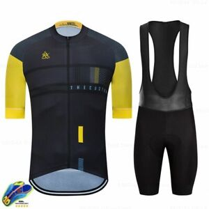 Men's Jersey Clothes Wear Rainbow Cycling Short Sleeve Clothing Summer Bike Sets