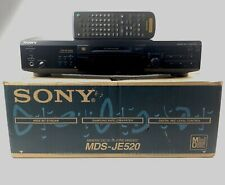 Sony (Model Mds-Je520) MiniDisc Deck Play and Record + Remote Tested and Working