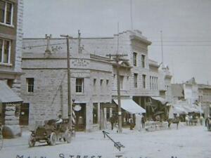 Vtg RPPC~Tonopah Nevada Main Street View~Around 1912~A H ROUNSEVELL Advertising