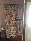 ANTIQUE PRAYER RUG/TAPESTRY FROM MAGANLAL NAGINDAS & CO SINGAPORE IMPORTERS