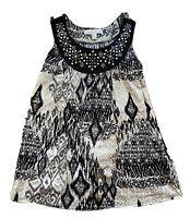 French Laundry Sleeveless Shirt 100% Polyester Women's Size Medium