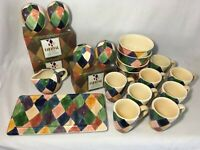 """TABLETOPS UNLIMITED """"Carnival"""" Choice of Mugs/Tray/Bowls OR Salt/Pepper"""