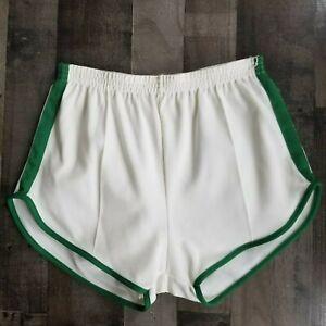 Vintage Nylon Athletic Gym Track Shorts Green