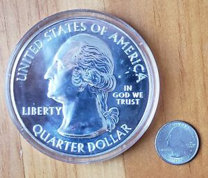 2010 ATB Mount Hood 5 OZ .999 SILVER Coin, In Capsule, Bullion Coin, Cleaned
