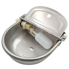 Livestock Waterer Animal Bowl Automatic Stainless Steel W Float Valve Trough