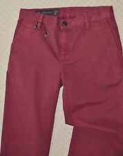 New Designer Armani Exchange Womens Boyfriend Chinos Khakis Trouser Red Maroon 8
