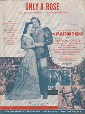 THE VAGABOND KING film song ONLY A ROSE Kathryn Grayson RUDOLF FRIML 1956