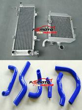 Aluminum Radiator & Silicone Blue Hose for HONDA RVF400 NC35 or NC30 VFR400