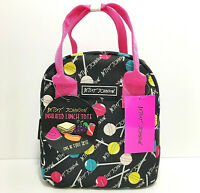 Betsey Johnson Lunch Tote Bag Lollipop Candy Print NWT