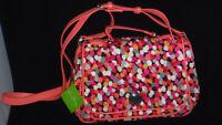 NWT Vera Bradley Turnlock Crossbody Purse Handbag Bag Pixie Confetti Coral Pink