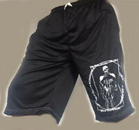 BODY BUILDING SHORTS, crossfit GYM CLOTHING  black white fast delivery.